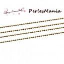 PAX: 10 mètres   Chaine maille bille 1.5mm DORE MAT S1177070 , DIY
