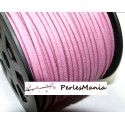 10m de cordon en suédine aspect daim ROSE FILLETTE PG00134 qualité, DIY