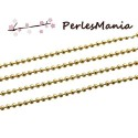 PAX 10m CHAINE A BILLES BOULES DORE 1.5mm S1177069, DIY