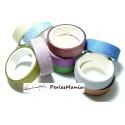 10 rouleaux de masking tape multicolores à paillettes 15mm H201, DIY