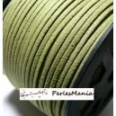 10m de cordon en suédine aspect daim VERT KAKI PG00131 qualité, DIY