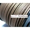 10m de cordon en suédine aspect daim avec paillettes MARRON H1004