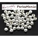 400 perles METAL intercalaires rondes lisse 4mm ARGENT VIF, DIY