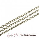 PAX : environ 95cm CHAINE CHAINETTE A MAILLE BRONZE 427284-46