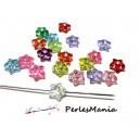 1 lot d'environ 100 perles intercalaire ETOILE multicolore 9mm RESINE
