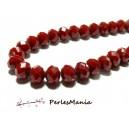1 fil d'environ 138 perles Rondelles Verre Facettée ROUGE FONCE 4 par 3mm Couleur 18