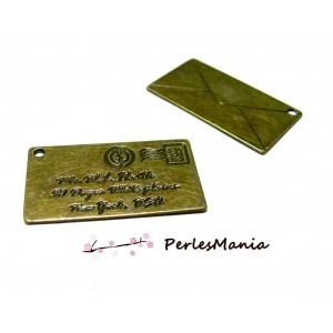 1 pendentif GRANDE ENVELOPPE A MESSAGE, Bronze ref20