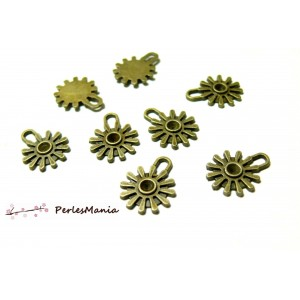 50 breloques pendentifs mini steampunk Bronze ref 67