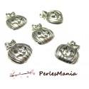 10 pendentifs CITROUILLE HALLOWEEN ref111 VIEIL ARGENT , DIY