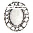 10 pendentifs CONNECTEUR ARTY OVALE VIEIL ARGENT ref249