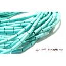 Apprêt et perles: 10 TUBE turquoise reconstituées couleur BLEU TURQUOISE