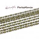 PAX : environ 10m CHAINE CHAINETTE A MAILLE BAMBOU BRONZE 3 par 1.5mm S1114659
