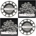 20 pièces: 10 pendentifs CONNECTEUR ARTY VIEIL ARGENT ref 196 et 10 cabochons en 14mm