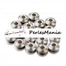 20 perles METAL intercalaires rondes mini picot 8 par 3mm Argent platine, H1111