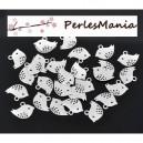 PAX: environ 50 pendentifs OISEAU ARGENT PLATINE S113684