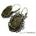 1 paire de boucle d'oreille DORMEUSE Vintage bronze ( S1111804 ), DIY