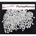 PAX 500 perles intercalaires passants 4 mm ARGENT VIF S111635