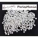 PAX 1000 perles intercalaires passants 3mm ARGENT VIF S111111