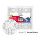 PLAQUE DE TEXTURE ART NOUVEAU 150x168mm POUR PATE FIMO, CERNIT, SCULPEY....