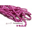 1 fil d'environ 95 perles JADE MASHAN MAGENTA 4mm,HX1112
