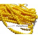 1 fil d'environ 95 perles JADE MASHAN JAUNE 4mm,HX1107