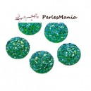 PAX 20 cabochons plat druzy, drusy ronds 12mm S1179020