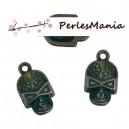 PAX 20 pendentifs CRANE SQUELETTE PATINE ANCIENNE metal couleur Bronze S1184179
