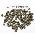 PAX 200 perles intercalaires passants TOUPIES 5 par 4mm BRONZE S114482