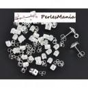 PAX: 500 embouts, poussoir, bouchon stoppeurs PAPILLON metal ARGENT VIF QUALITE CUIVRE S118911