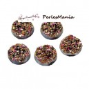 PAX 50 cabochons plat druzy, drusy ronds 12mm S1176700