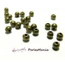 Lot d'environ 500 perles METAL intercalaires rondes lisse 2mm metal couleur BRONZE