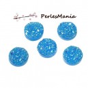 PAX 20 cabochons plat druzy, drusy ronds 12mm S1177542