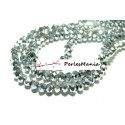 1 fil d'environ 95 perles facettées rondelles argenté 4 par 6mm ref 2J1203