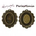 PAX 100 Supports de pendentif GRANDE FLEUR couleur metal BRONZE S1148642