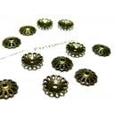 Lot de 30 coupelles caps metal couleur bronze P1413Y