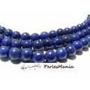 1 fil d'environ 45 perles veritable lapis lazuli rond 4mm H11874