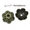 PAX 200 coupelles caps ENTRELACS 9.5mm metal couleur bronze S113030