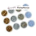 4 BOITES DE MINI SEQUINS GLOBES FIOLES FIMO 4 COULEURS pour nail art, scrapbooking ( S1173388 )