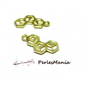 PAX 20 pendentifs, breloque RUCHE ORIGAMI DORE S1181380