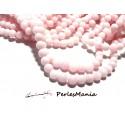 1 fil d'environ 95 perles JADE MASHAN ROSE Laiteux 4mm H114D02