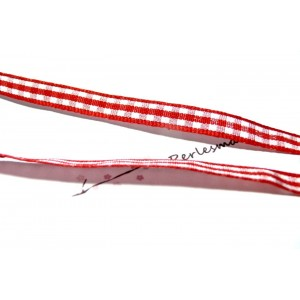 Offre spéciale :10 mètres ruban vichy bi face rouge 7mm