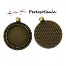 PAX 20 pendentifs ARTY VINTAGE BRONZE Arabesque de feuille 25mm S1142430