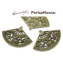 PAX 30 pendentif breloque FORME EVENTAI L3.7cm metal BRONZE S112760