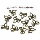 PAX 50 pendentifs CONNECTEUR ARABESQUE metal couleur Bronze S113783