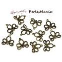 10 pendentifs CONNECTEUR ARABESQUE metal couleur Bronze ( S113783 )