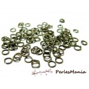 PAX 100 anneaux de jonction BRONZE 5mm par 1mm, DIY