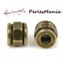 PAX 30 perles intercalaires HEXAGONE metal couleur Bronze S1177400